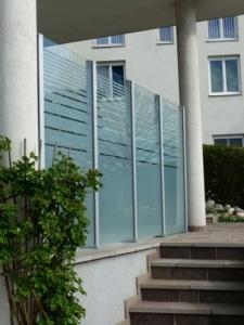 Glassichtschutz montiert in 4710 Grieskirchen Sueno Design