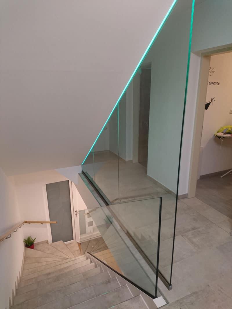 Glasgeländer-Absturzsicherung designglaswand sankt Ägidi sauwald