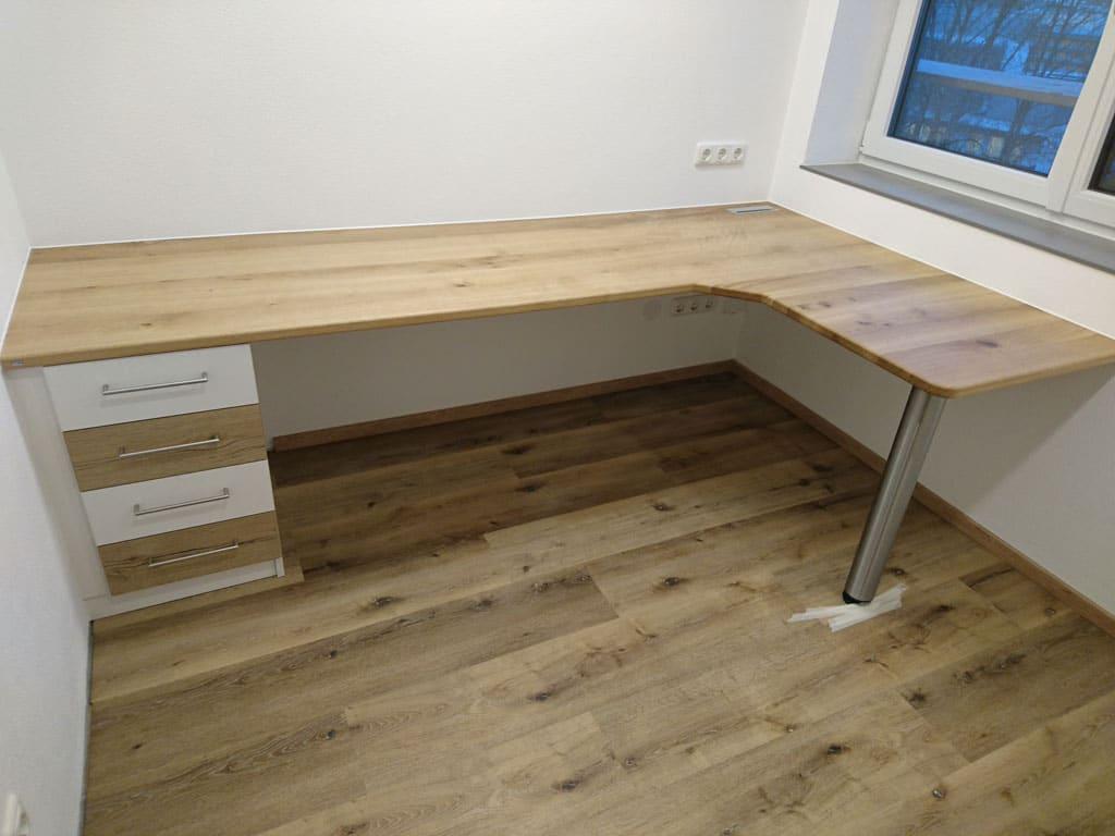 Schreibtisch-mit-Trolley in eiche massiv in pollham oö