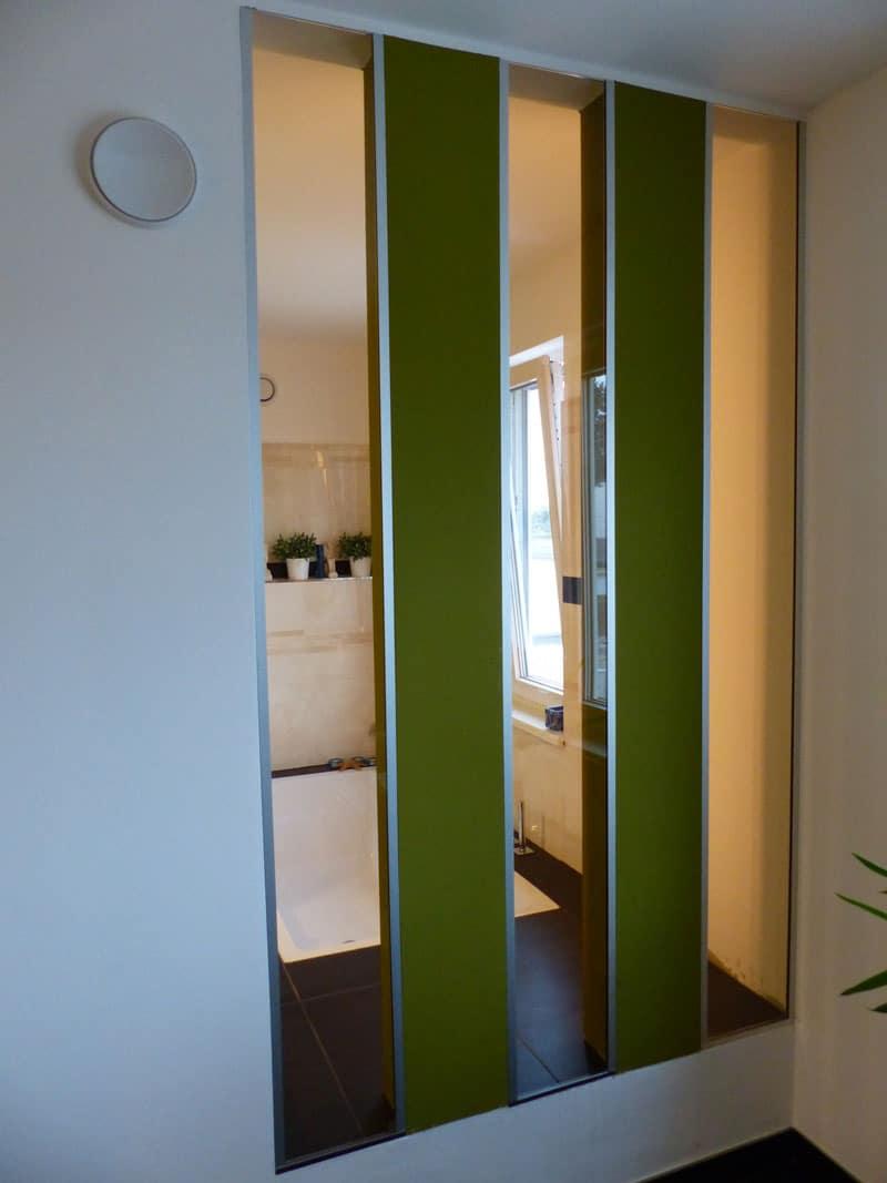 raumtrennglas-braun getönt in architektenvilla pöstlingberg oö