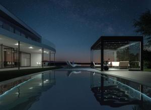 sommergarten bei pool